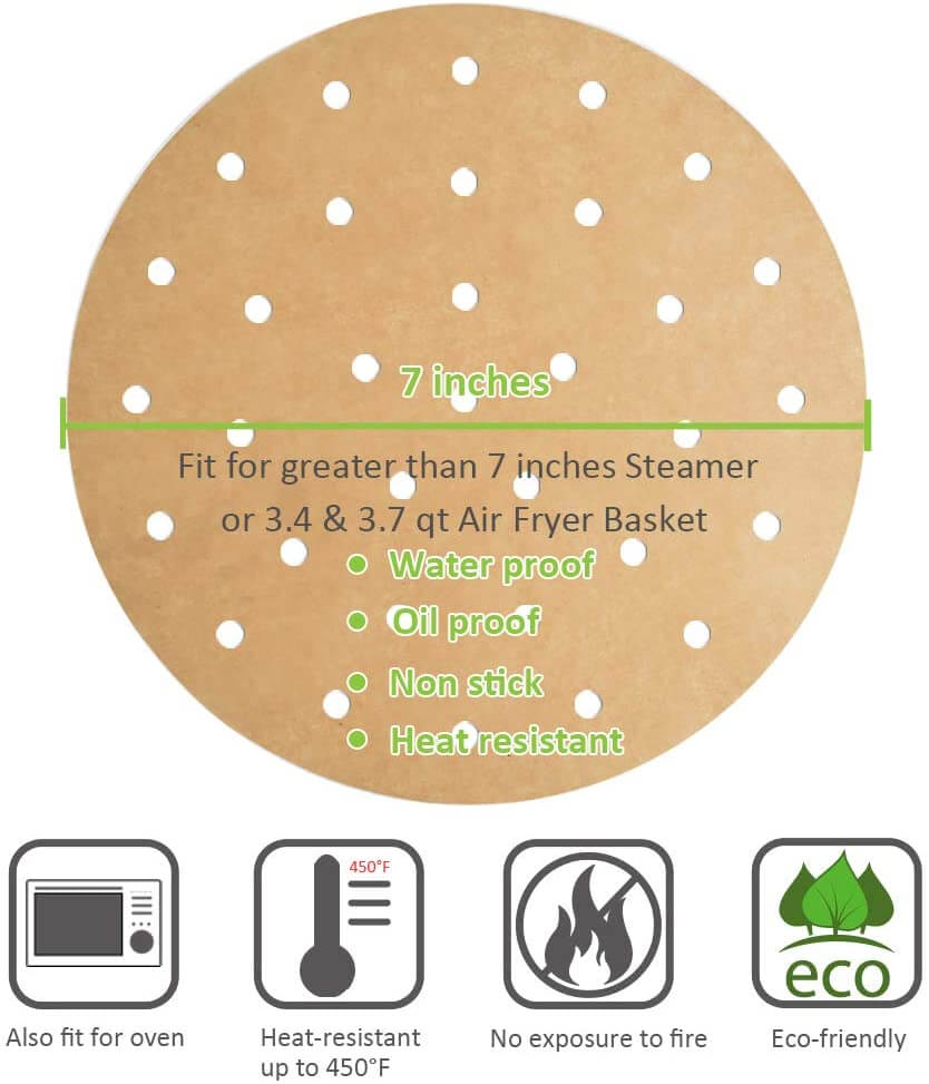 perforated parchment paper for air fryers